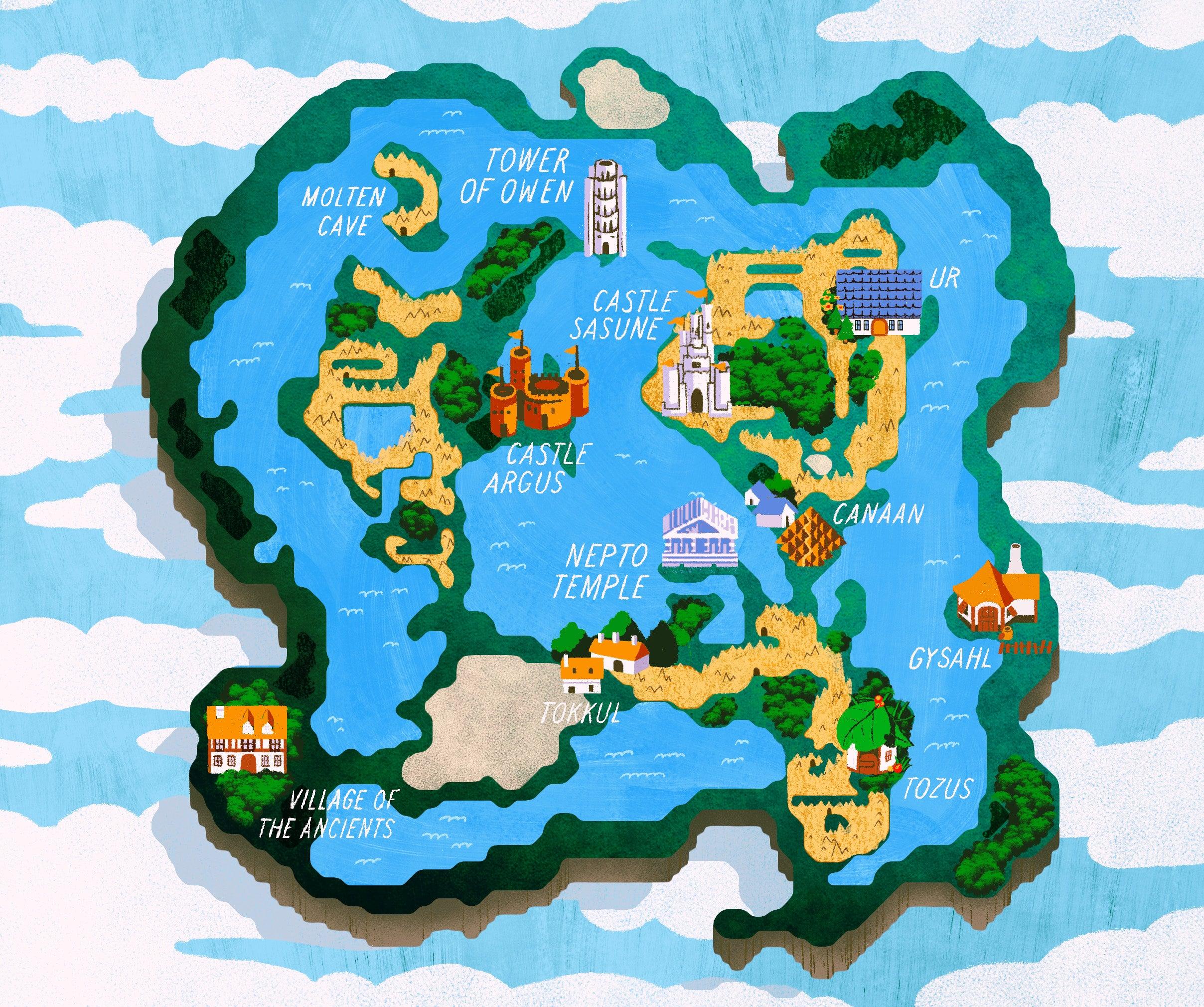 Final Fantasy Iii World Map | fysiotherapieamstelstreek