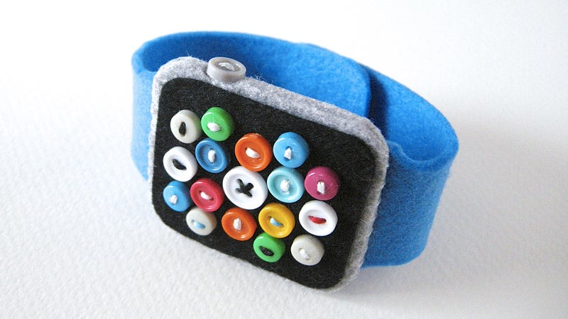 An Adorable Felt Apple Watch For Kids That Never Needs Charging
