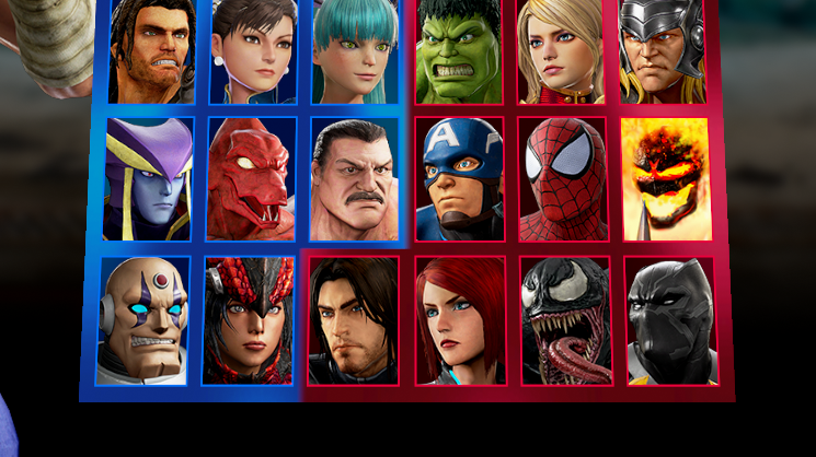 Marvel Vs. Capcom Pulls Attention From Ugly Characters With Ugly Select Screen