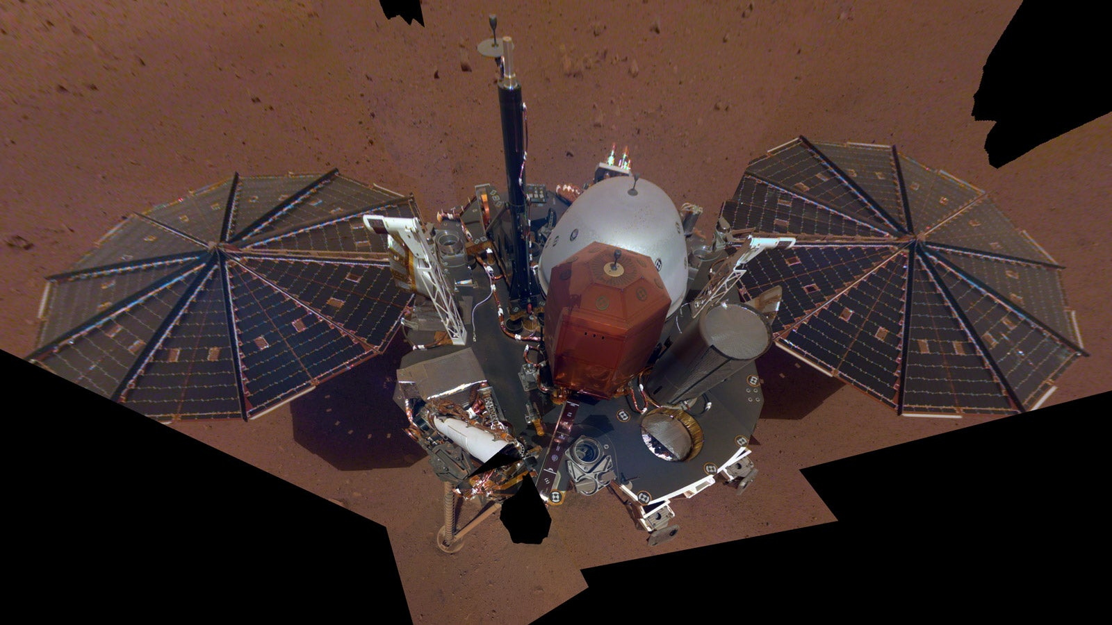 NASA's InSight Lander Strikes A Confident Pose For Its First Martian Selfie