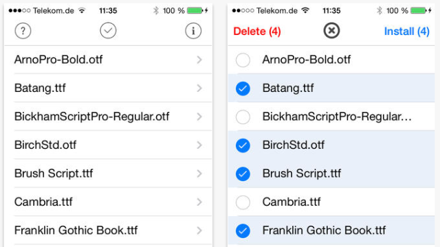IOS Fonts, Stock Apps, and Keyboard Shortcuts