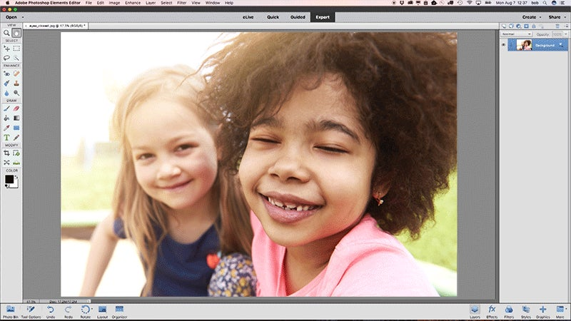 Using AI Smarts, Photoshop Elements Can Now Automatically Open Closed Eyes In A Photo