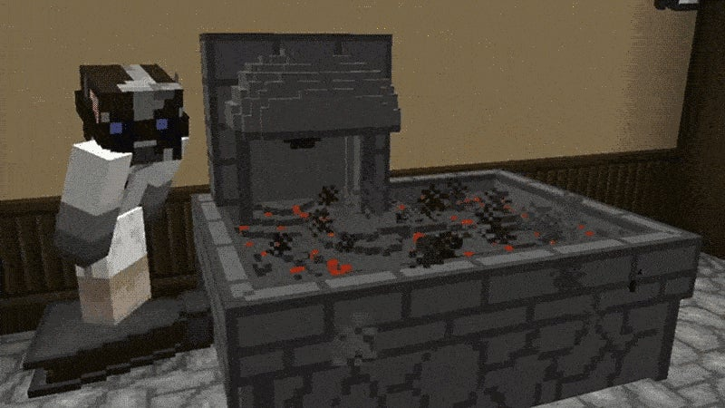 Forging in Minecraft Sure Looks Fun