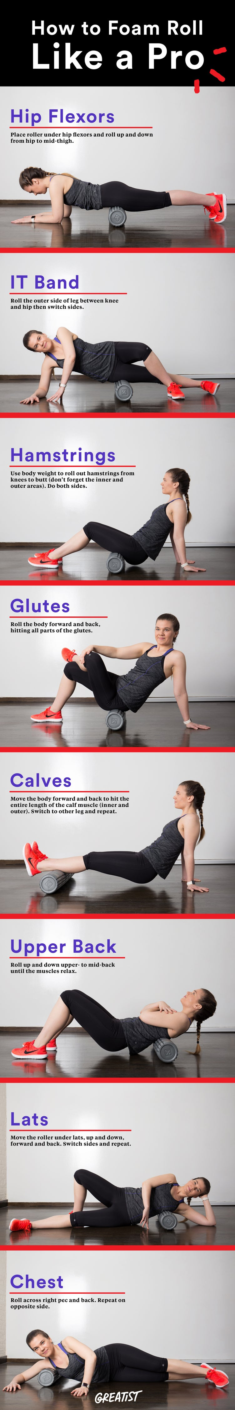 Eight Foam Rolling Techniques to Loosen Up Your Muscles