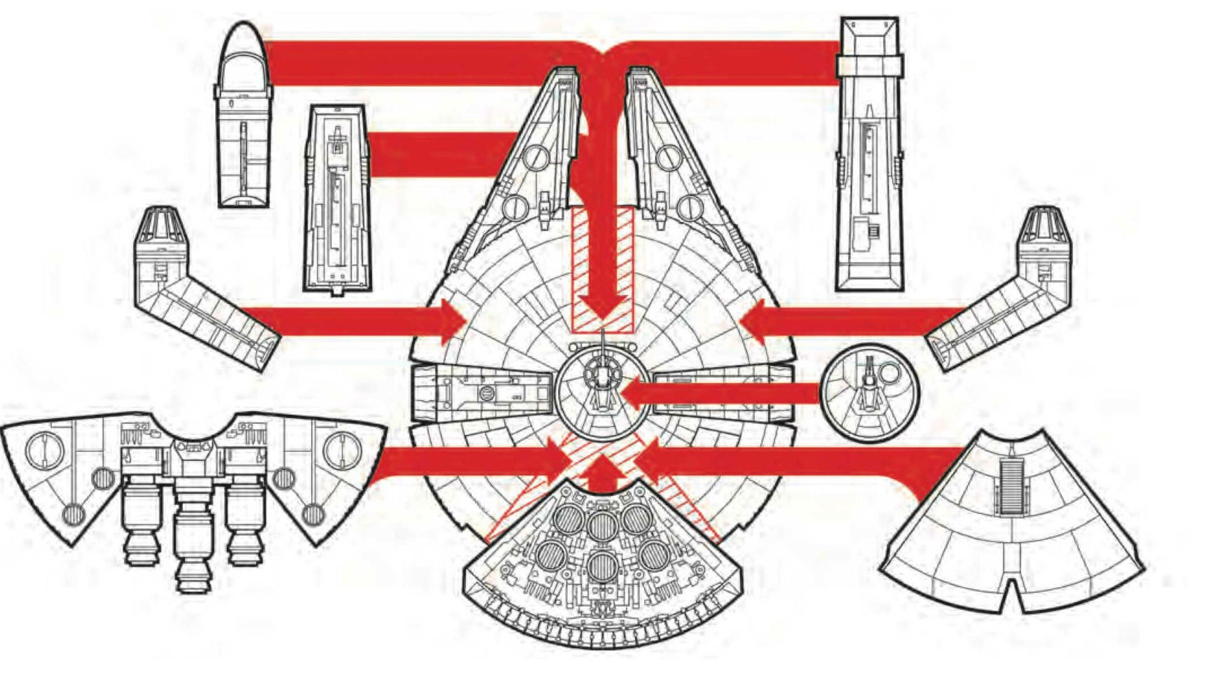 The Design Of The Millennium Falcon Is Fully Customisable