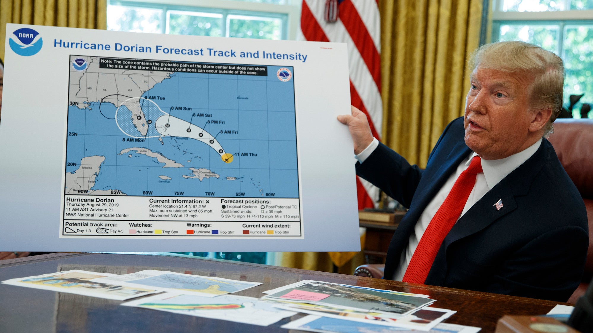 Hurricane Dorian Didn't Threaten Alabama, You Say? Clearly, You Haven't Seen Trump's Sharpie Drawing