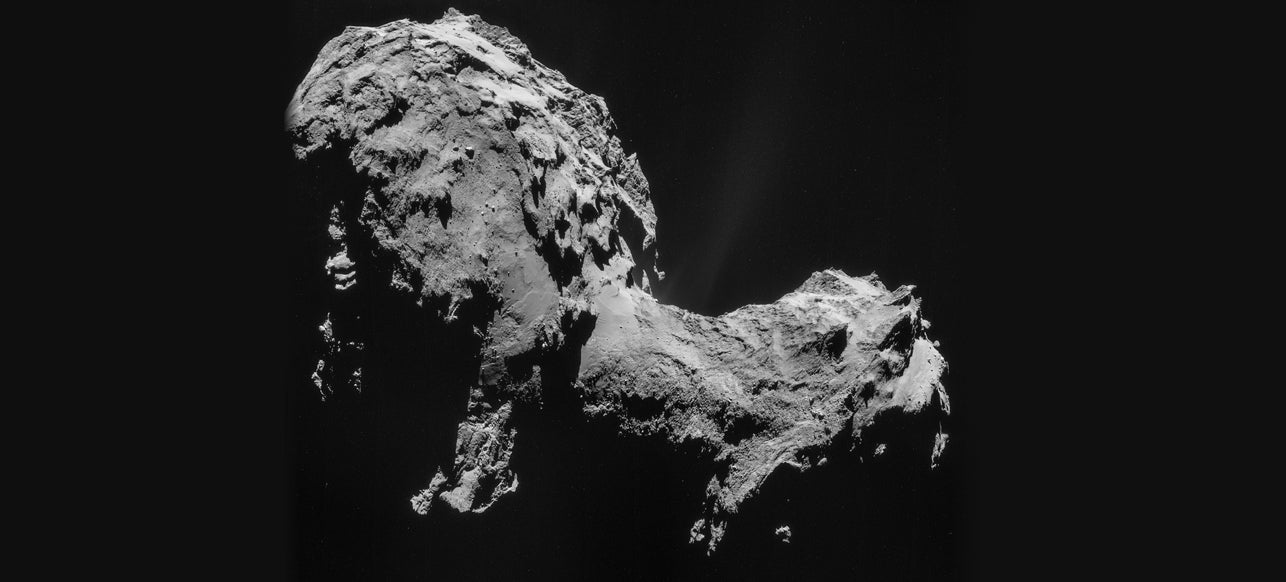 There's Ice Just Beneath the Surface of Comet 67P
