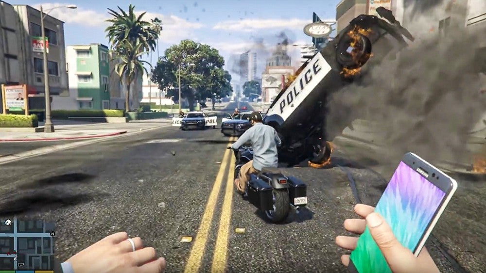 Samsung Gets GTA V Video Taken Off YouTube, Because It Turned A Note 7 Into A Bomb