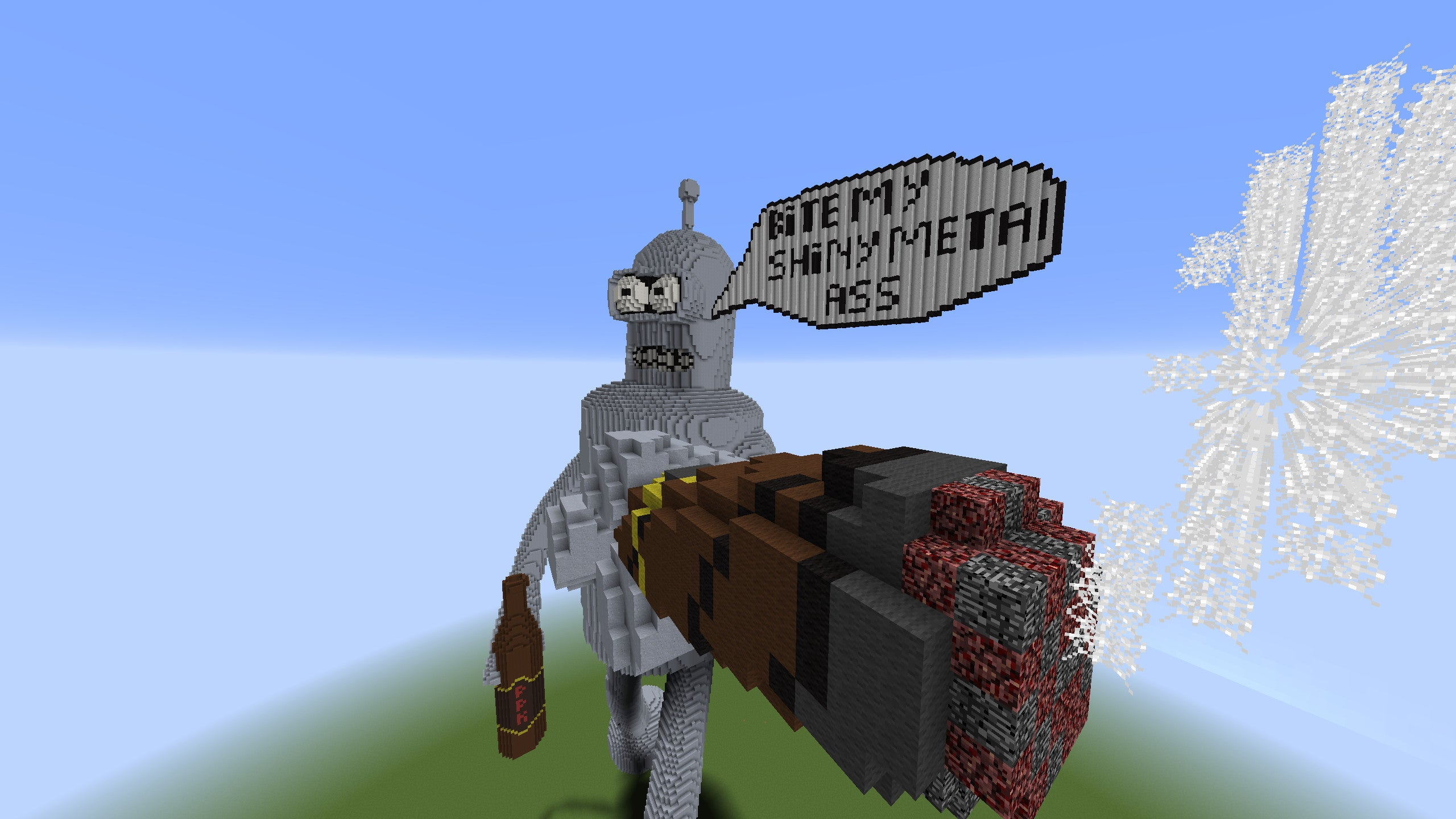 Watch a Guy Build Bender in Minecraft