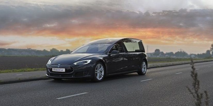 Dutch Companies Create Tesla Hearse So Your Loved Ones Can Die In Style