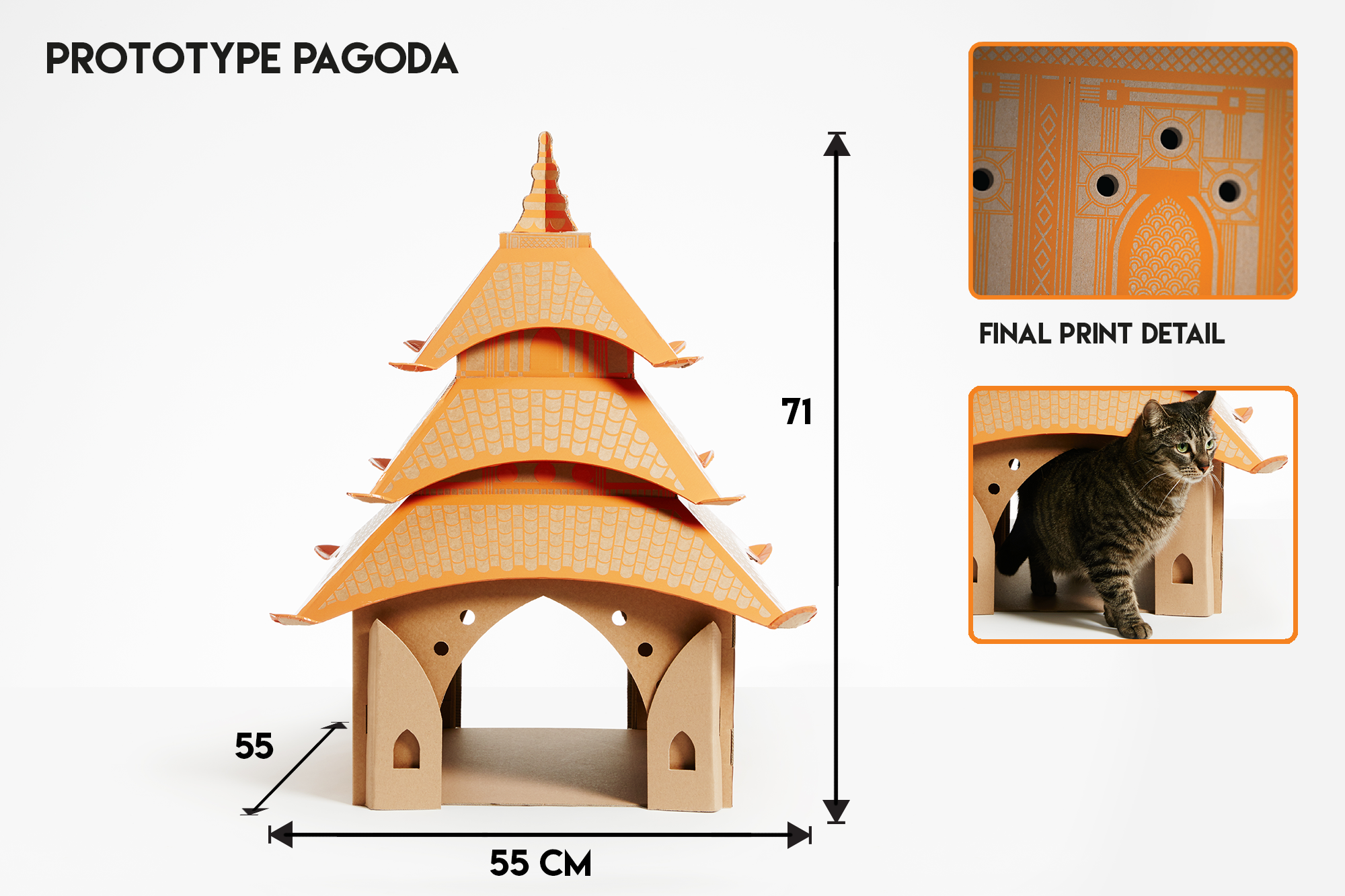 How Long Will It Take Your Furball to Shred One of These Incredible Cardboard Cathouses?