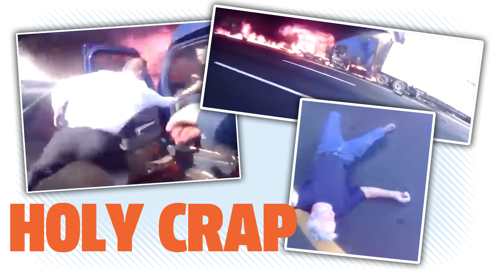 Watch A Cop Drag A Driver From A Truck Seconds Before It Explodes Like In A Damn Movie
