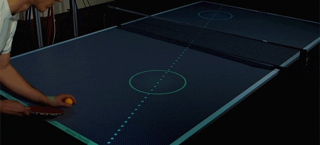 Super Smart Ping Pong Table Teaches You How to Play Like a Pro