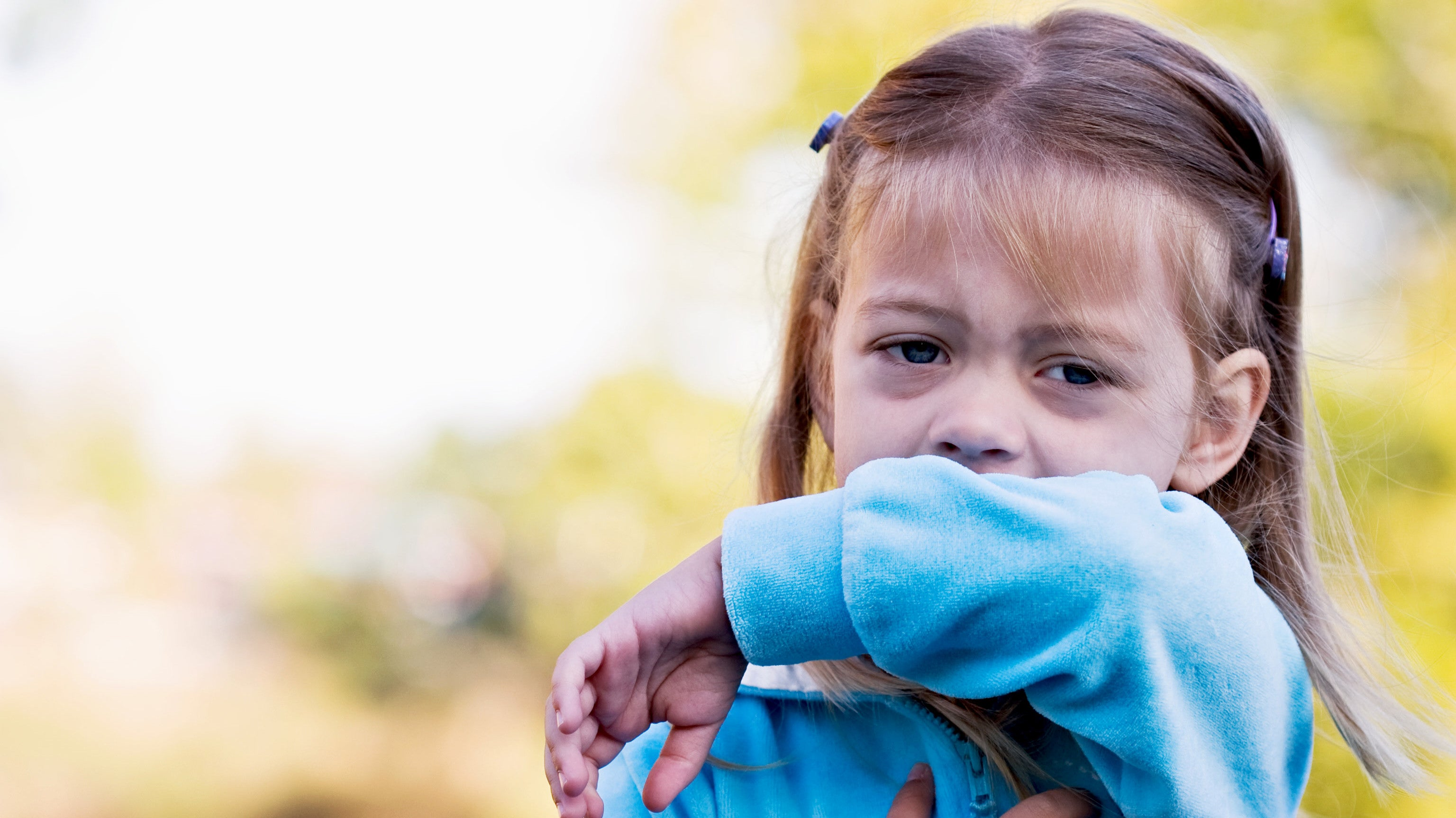 Teach Little Kids To Cough Into Their 'Cough Pocket'