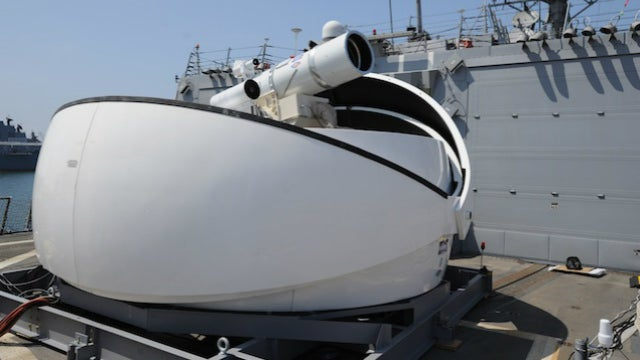 The U.S. Navy's First Laser Cannon Is Now Deployed in the Persian Gulf