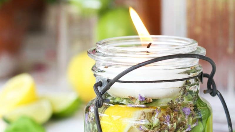 Make a Prettier Citronella Candle With Fresh Herbs