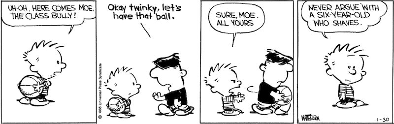 A String Of Upsetting Calvin & Hobbes Strips Told A Bold Story About Bullying