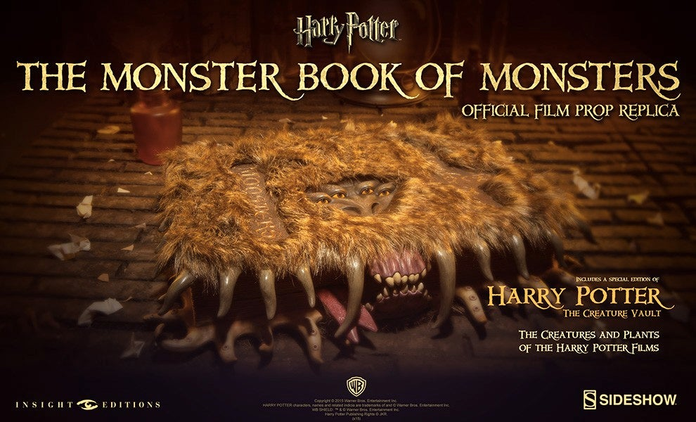 Continue Your Hogwarts Studies With a Monster Book of Monsters Replica