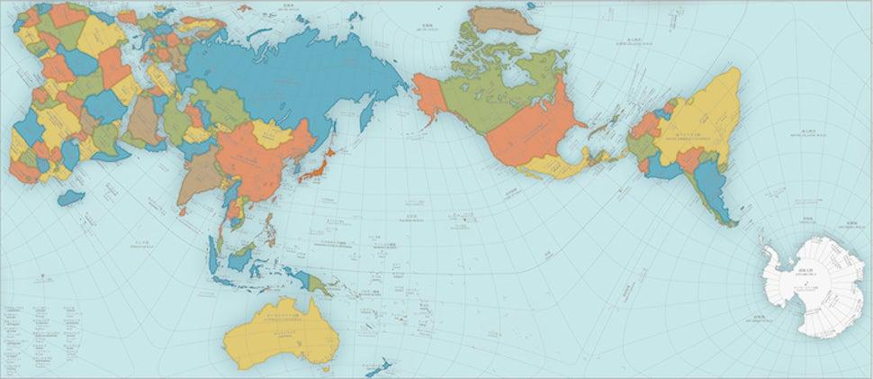 This Wacky World Map Just Won Japan's Biggest Design Award