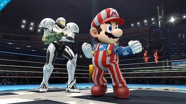 Mario's Alternate Smash Bros. Costume Is... Patriotic