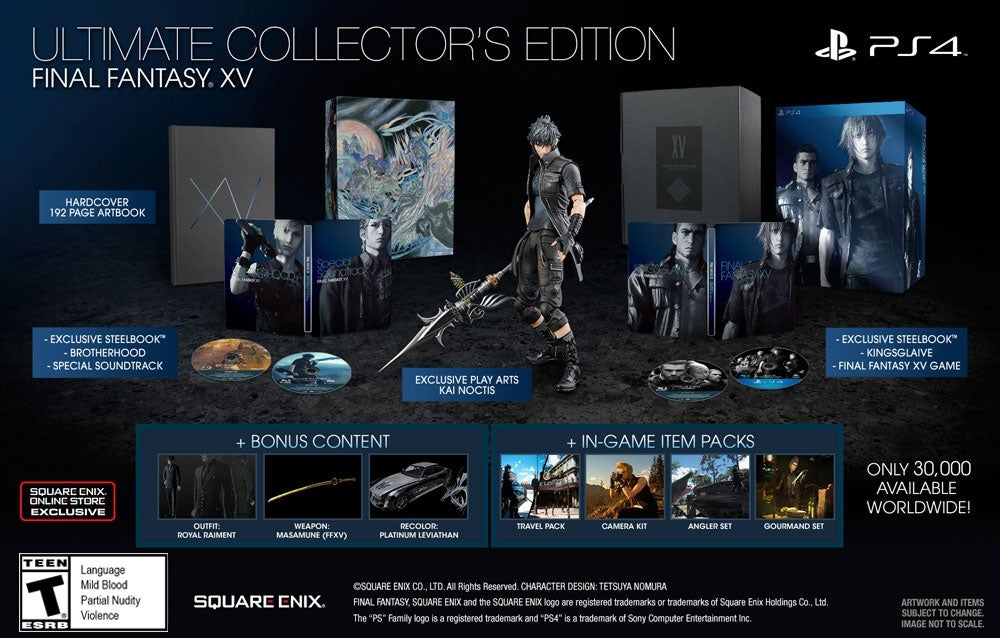 The Ultimate Version Of Final Fantasy XV Doesnt Come With A - Create invoice app square enix online store