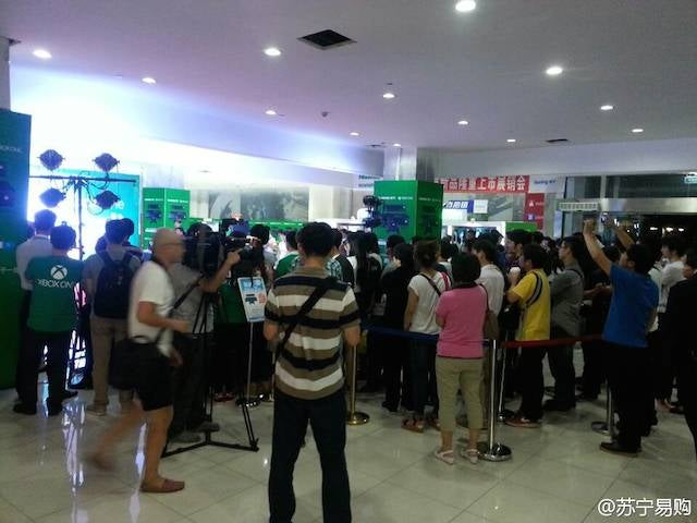 People in China Actually Lined Up for the Xbox One