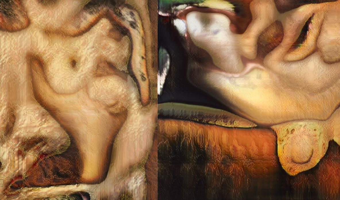 AI Imagines Nude Paintings As Terrifying Pools Of Melting Flesh
