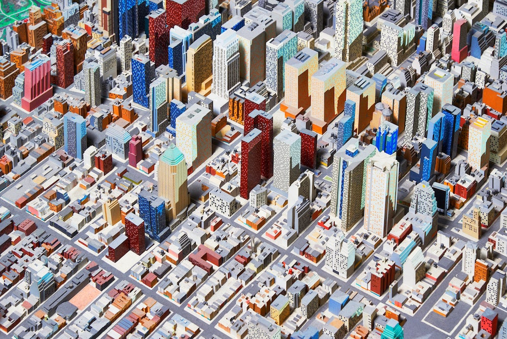 I want to live in this incredible full scale model of nyc for Where do models live in new york