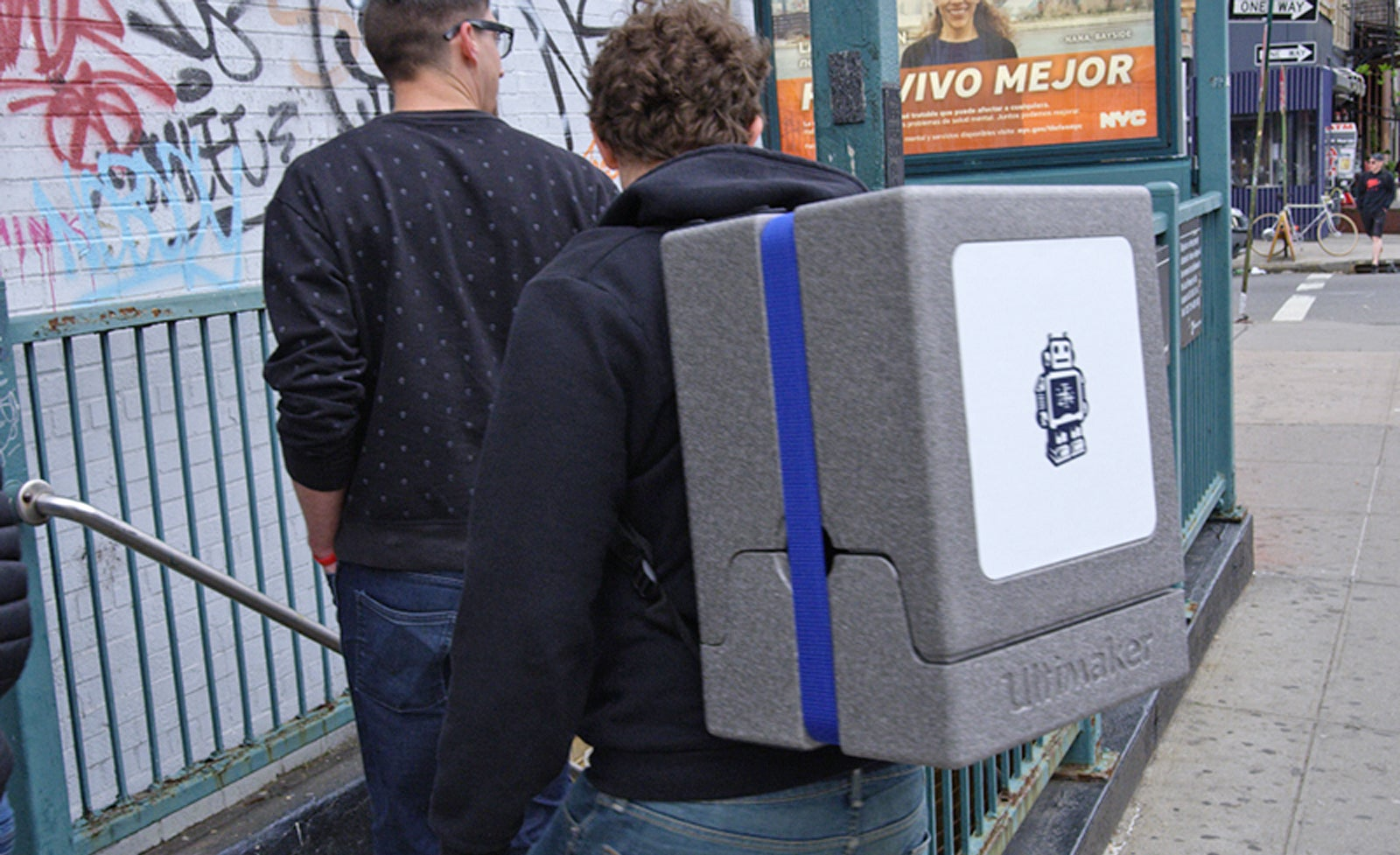 Make Your Train Commute A Nightmare With A 3D Printer Backpack