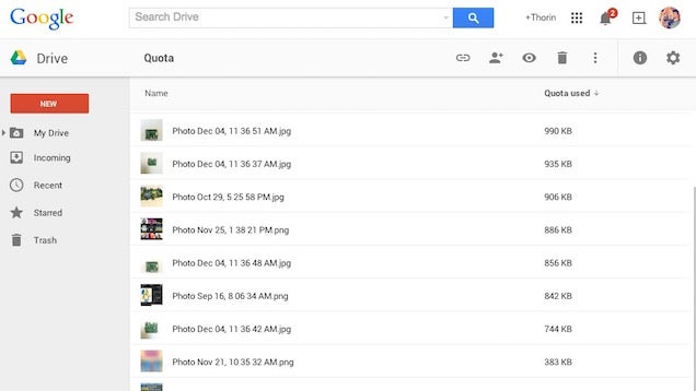 Find the Files Taking Up the Most Space in Google Drive with this Link