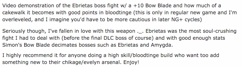 Bloodborne's New Bow Absolutely Wrecks