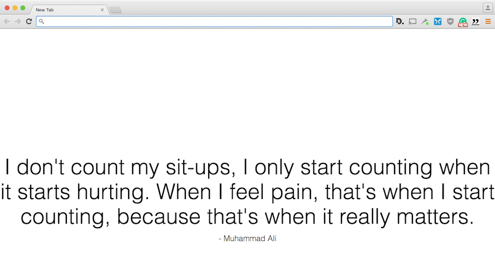 New Tab Motivation Gives You A New, Inspiring Quote With Each Tab You Open