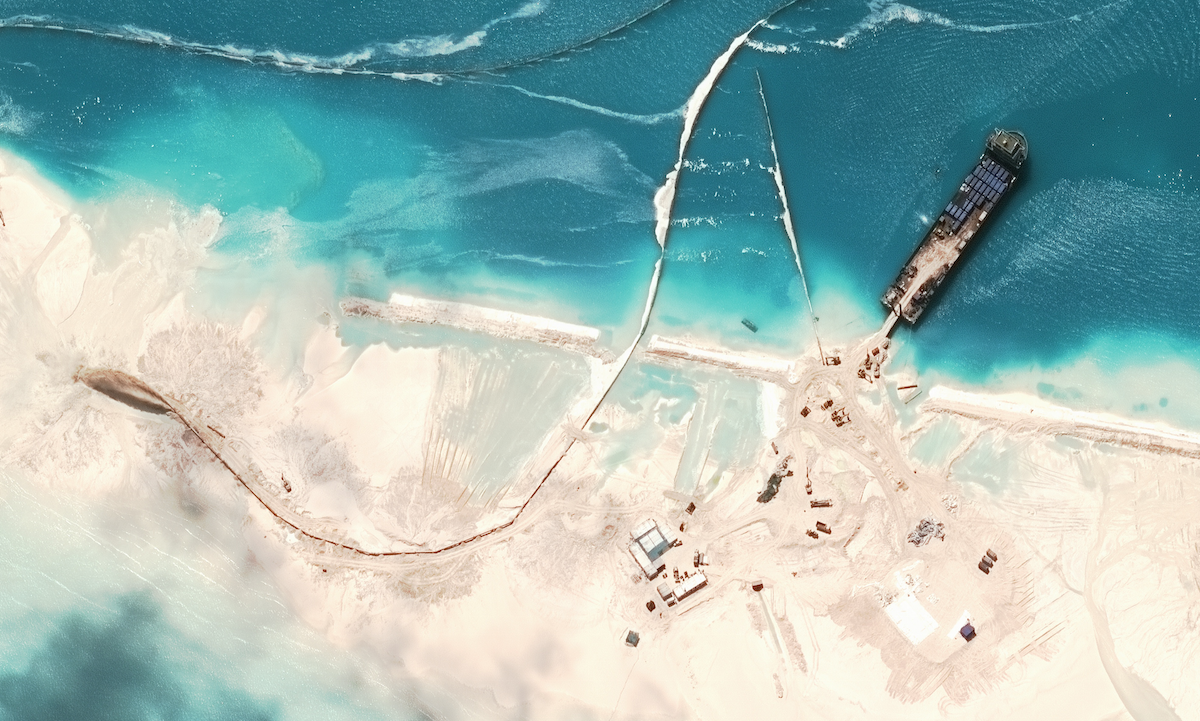 Incredible Satellite Images Show China Building Artificial Archipelago