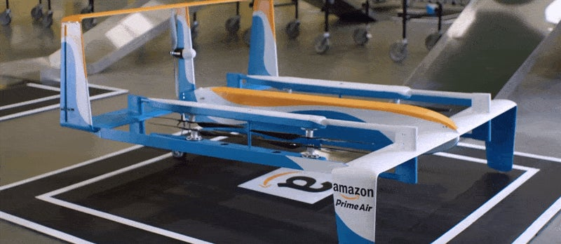 Amazon's New Delivery Drone Looks Like A Flying Bed