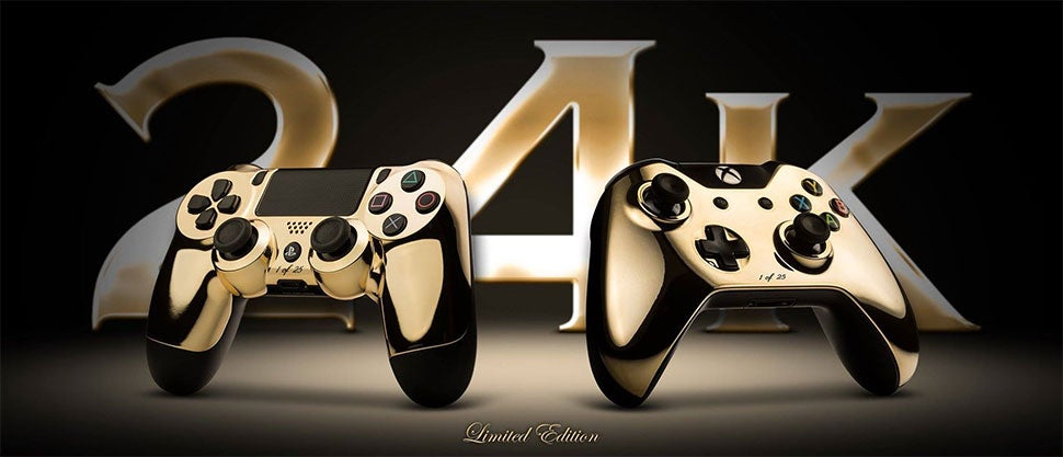 24 Karat Gold PS4 And Xbox One Controllers Are Dumb, Almost Sold Out