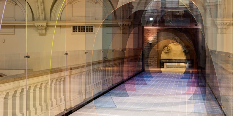 An Acrylic Tunnel Turns a London Museum Into a Sci-Fi Alice in Wonderland