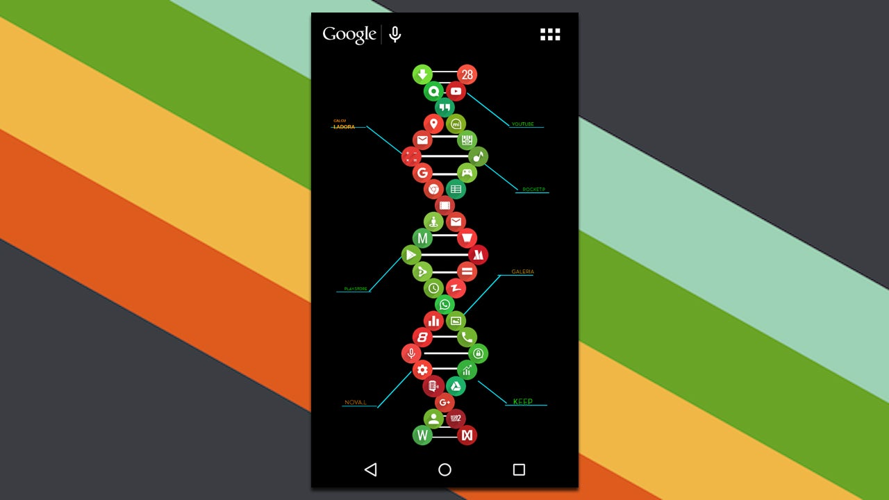 The Double Helix Home Screen