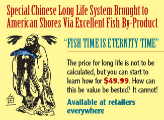 Special Chinese Long Life System Brought To American Shores Via Excellent Fish By-Product