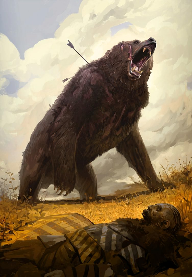 For Instance This Is Yngvar A Giant Bear Who Used To Stalk The Island Of An Skellig Before Tyr Clan Tuirseach Killed It