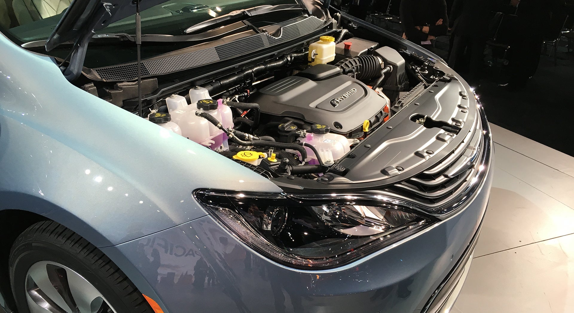 Rare Picture Of Hybrid Engine Bay 2017 Chrysler Pacifica Minivan Forums