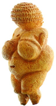 Unknown - Venus of Willendorf  Discovered in 1908 in Austria, this paleolithic carving from 24,000 BCE represents one of the earliest examples of the human figure known to modern scholars.