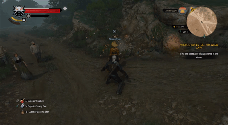 The Witcher 3: Adeligen-Bug (Quelle: The KaZzY auf Youtube)