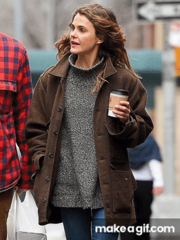 Illustration for article titled womens Mid Length Brown Wool Blend Keri Russell NYC Fashion Coat – 2019 New Winter Arrival at Celebs In-Style!