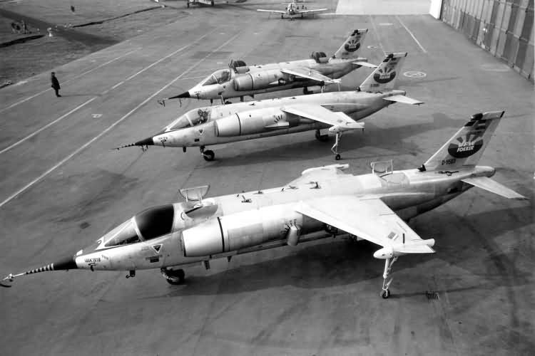 The three VAK 191B prototypes