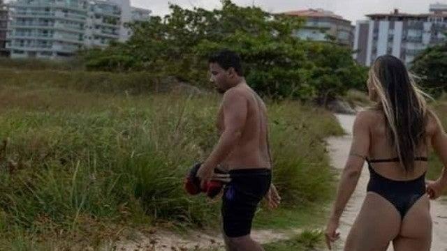 Model who got arrested after she stripped naked at the AFL