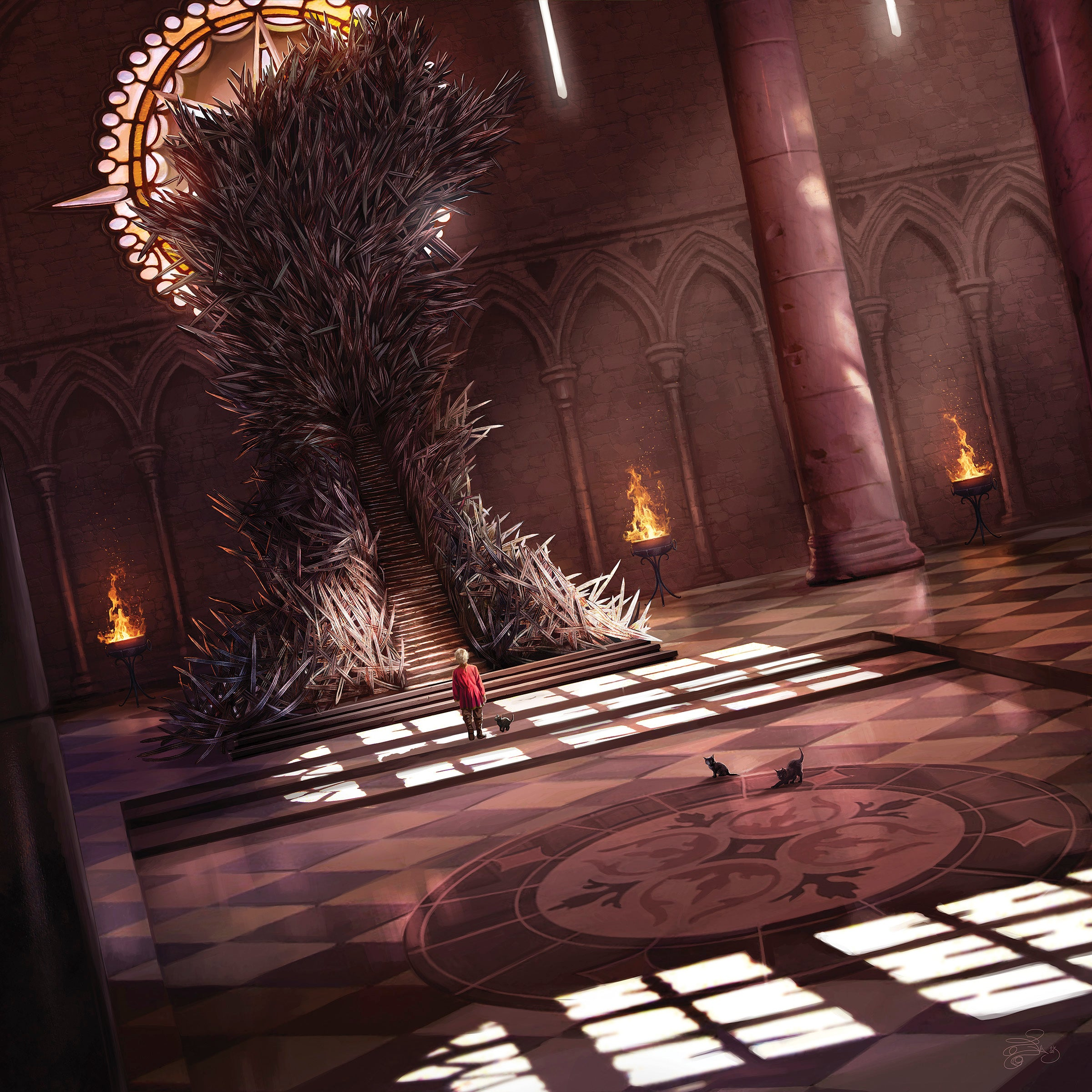 Cuplikan kalender 2016 a song of ice and fire star invasion for Iron throne painting